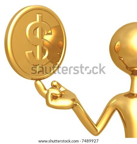 Gold Dollar Coin - stock photo