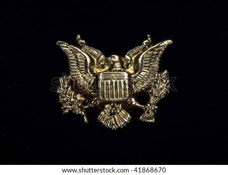 Gold eagle symbol - stock photo