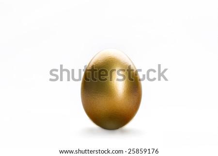 gold egg 1 - stock photo