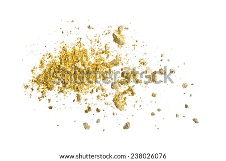 Gold eyeshadow - stock photo