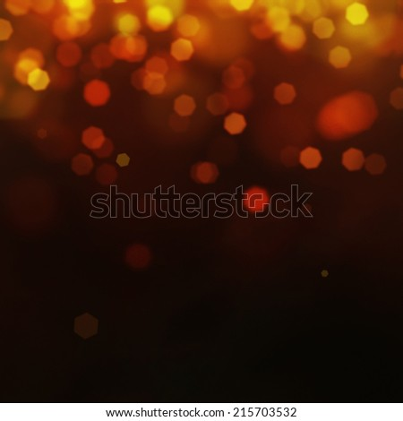 Gold Festive  background. Elegant abstract background with bokeh defocused lights and stars - stock photo