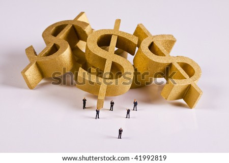 Gold fever - stock photo