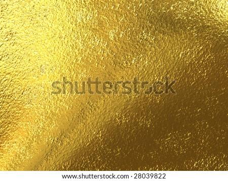 gold foil - stock photo