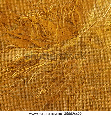 gold foil background texture. - stock photo