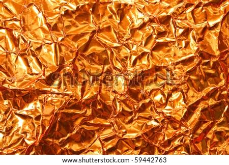 Gold foil paper - stock photo