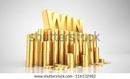 Gold for winner - stock photo