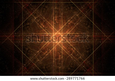 Gold  fractal abstract background. - stock photo