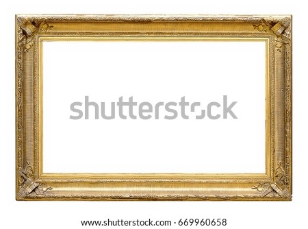 Gold Frame Paintings Mirrors Photos Stock Photo (Edit Now) 669960658 ...