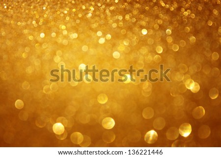 Gold glitter abstract background. defocused - stock photo