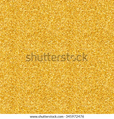 Gold glitter texture Christmas seamless pattern background, glowing glamour luxery metallic foil backdrop - stock photo
