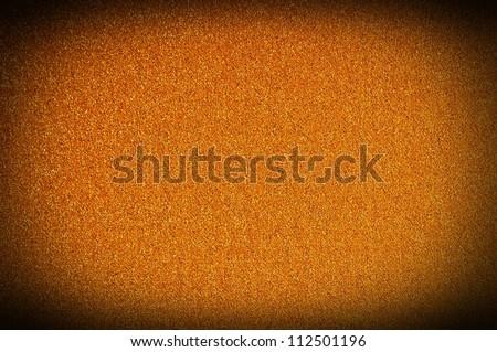 Gold glitter texture macro close up background. - stock photo