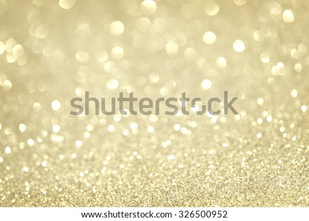 gold glittering christmas lights. Blurred abstract background