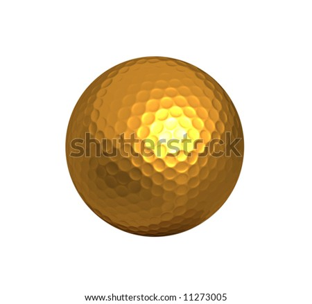 gold golf ball background - stock photo