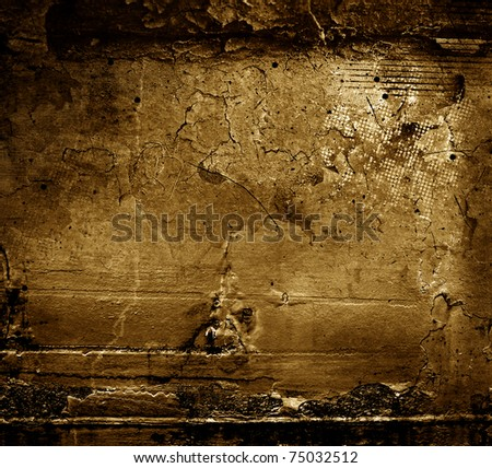 gold grunge textures and backgrounds - stock photo
