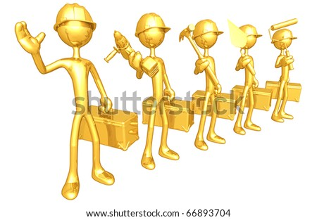 Gold Guy Construction Crew