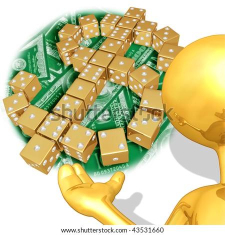 Gold Guy Financial Risk Presenter - stock photo