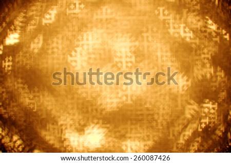 gold jerusalem cross bokeh background - stock photo