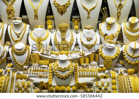 Gold Jewelry Grand Bazaar Istanbul Turkey Stock Photo Edit Now