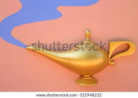 Gold Lantern - stock photo