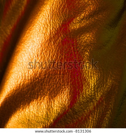 Gold Leather Background - stock photo