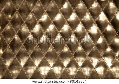 gold leather for gold texture background - stock photo