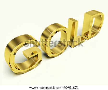 Gold Letters As Symbol For Success Or Riches - stock photo