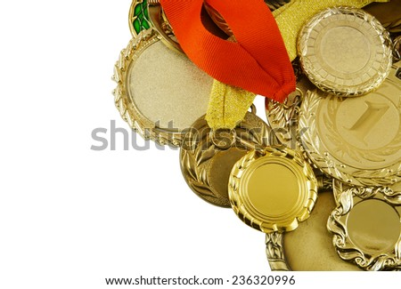 Gold medals background