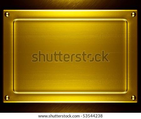 gold metal - stock photo