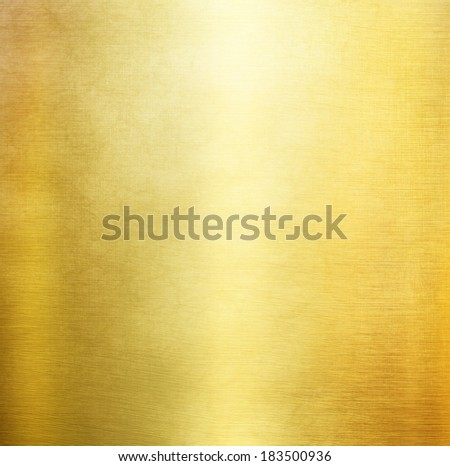 gold metal background light brushed steel plate - stock photo