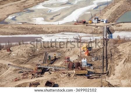 Gold mining - stock photo
