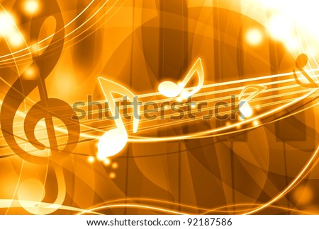 gold music background illustration