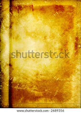 gold old partchment with grunge 2 - stock photo