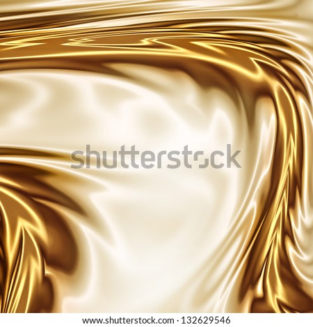 Gold on the white drapery artistic texture - stock photo