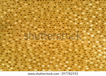 Gold paper texture or background. - stock photo