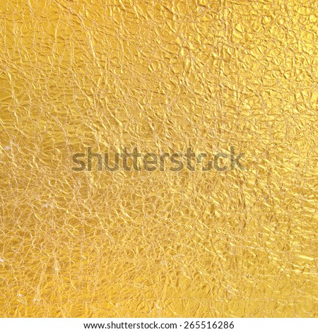 Gold Paper wrinkled background - stock photo