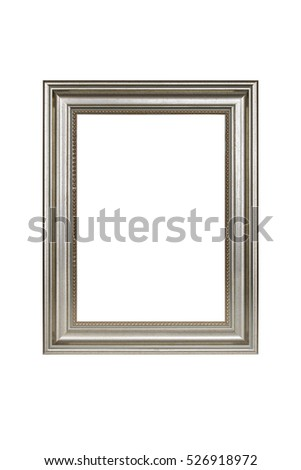 Gold picture frame isolated on white with clipping path.