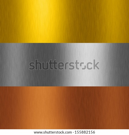 gold plate with reflection - stock photo