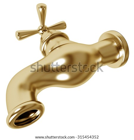 Gold plated faucet