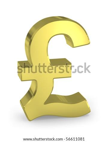 Gold pound sign - stock photo