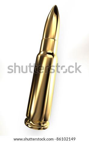 Gold reflective round - stock photo