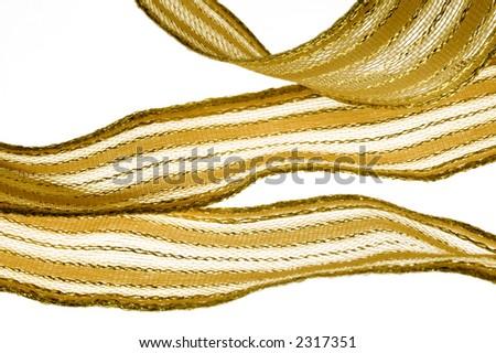 gold ribbon - stock photo