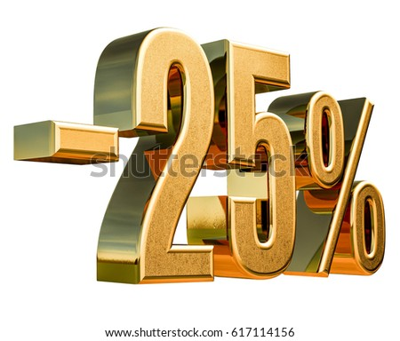 Gold Sale -25%, Gold Percent Off Discount Sign, Sale Banner Template, Special Offer -25% Off Discount Tag, Minus Twenty Five Percent Sticker, Gold Sale Symbol, Gold Sticker, Advertising, Luxury Sale