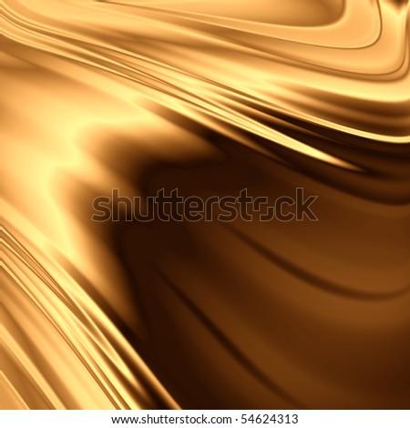 Gold shiny backdrop - stock photo