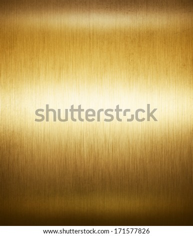 gold shiny metal surface, abstract background. - stock photo