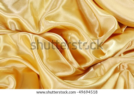 Gold Silk - stock photo
