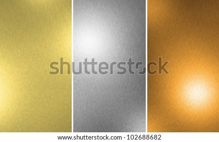 Gold Silver Bronze texture background - stock photo