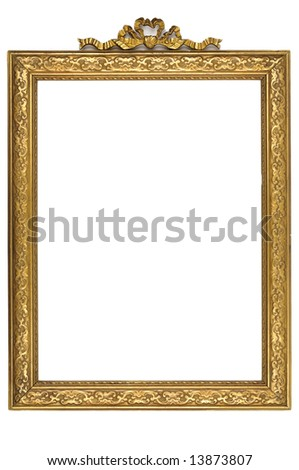 Gold square antique picture frame cutout art craft