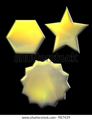 Gold Star, Pentagon, and Burst Seal