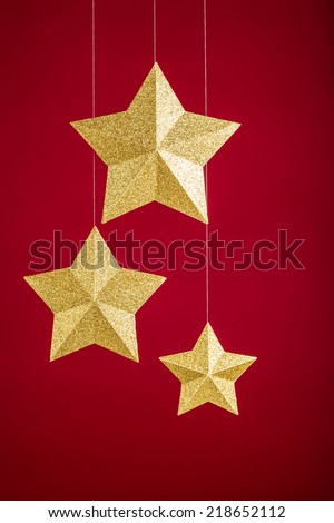 Gold stars - stock photo
