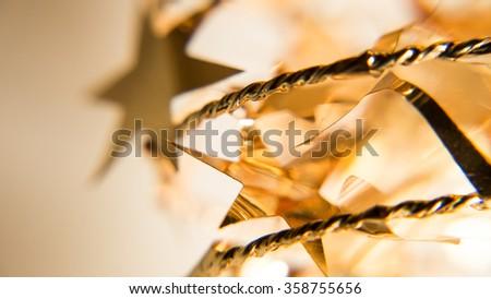Gold stars. - stock photo